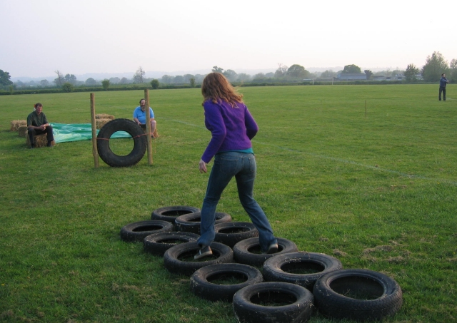 obstacle course at the County Rally 2007